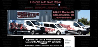 Expertise auto glass website development