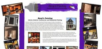Painting by Benji website design